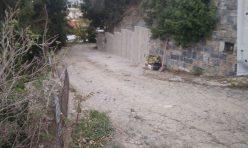 Τοιχείο αντιστήριξης πρανούς στο Μάραθος